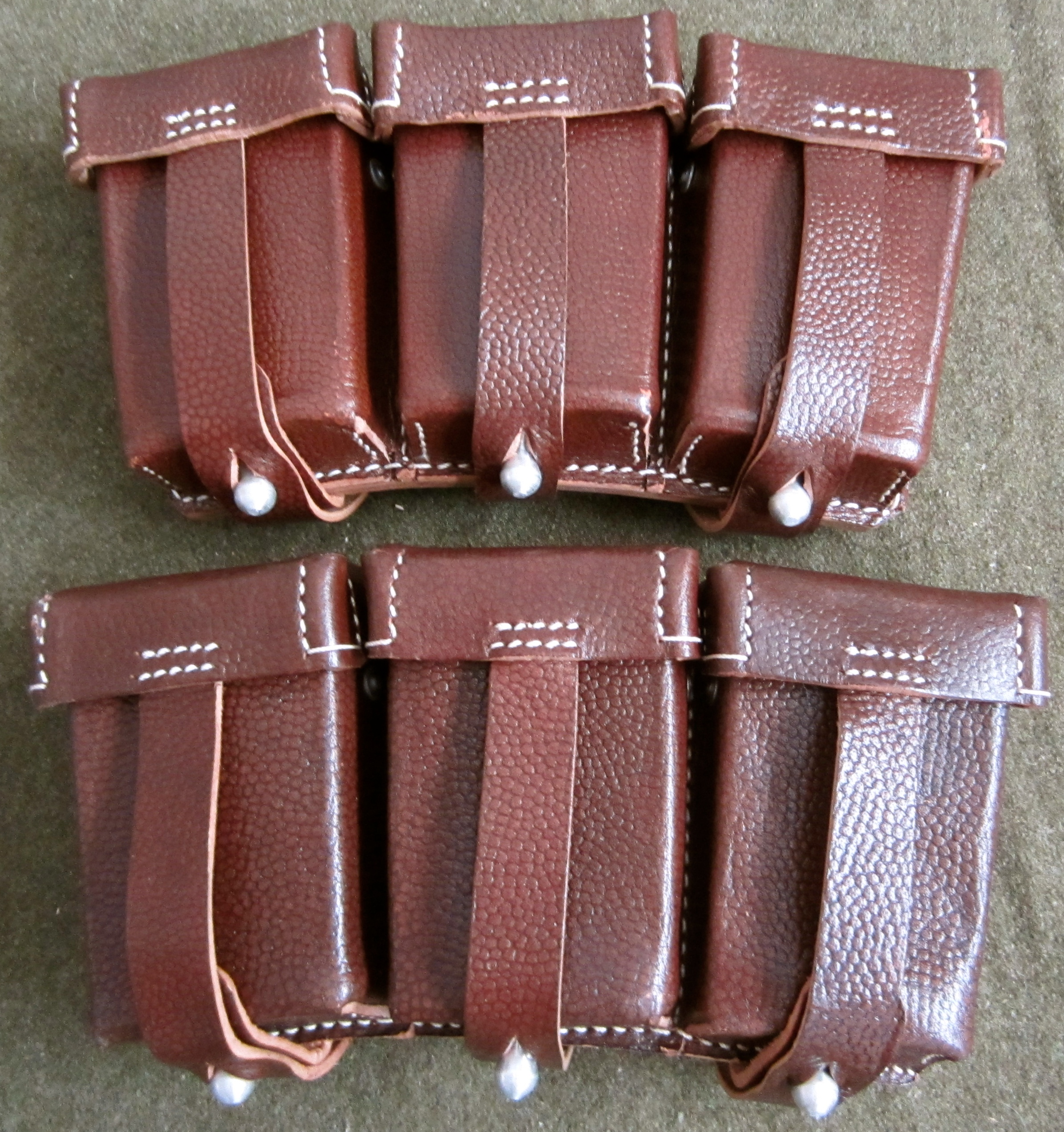 K98 Rifle Ammo Pouches Brown Leather Man The Line