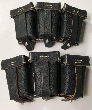 K98 BLACK AMMO POUCHES-1ST PATTERN