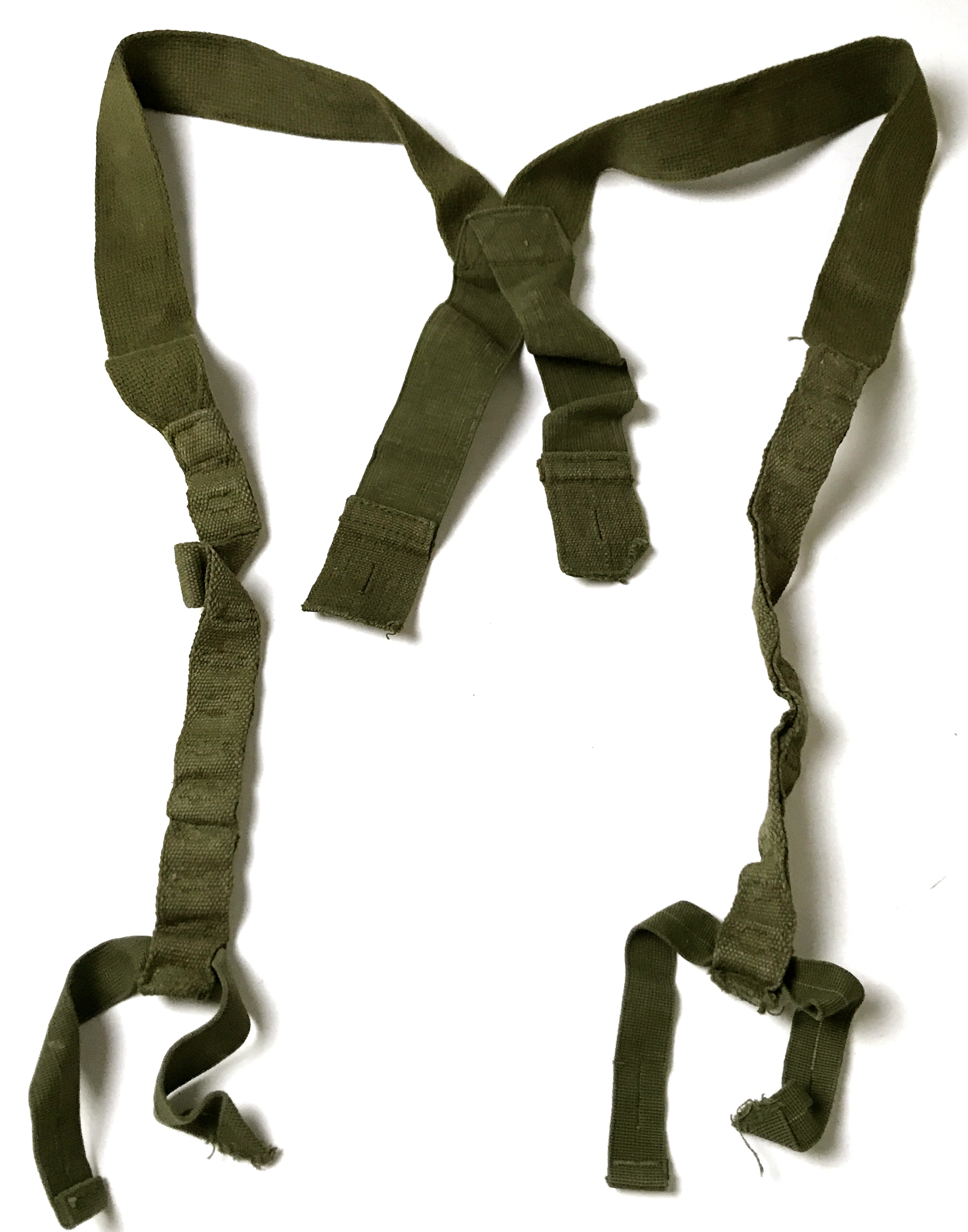 ORIGINAL WWII US M43 OD TROUSERS SUSPENDERS NEW OLD STOCK