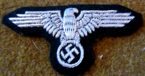 WAFFEN SS OFFICER/NCO SLEEVE EAGLE