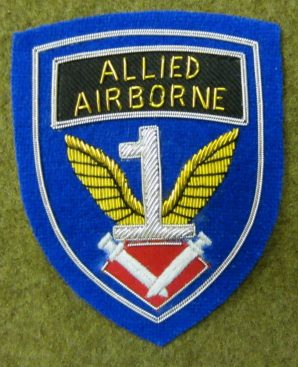 """1ST ALLIED AIRBORNE """"THEATRE MADE"""" PATCH-BULLION"""