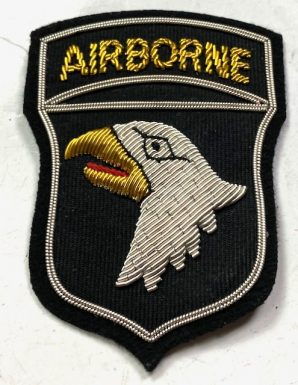 101ST AIRBORNE SLEEVE INSIGNIA-THEATRE MADE BULLION