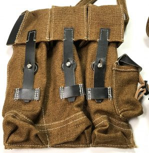 MP44 STG44 LATE WAR AMMO POUCHES-JUTE COTTON