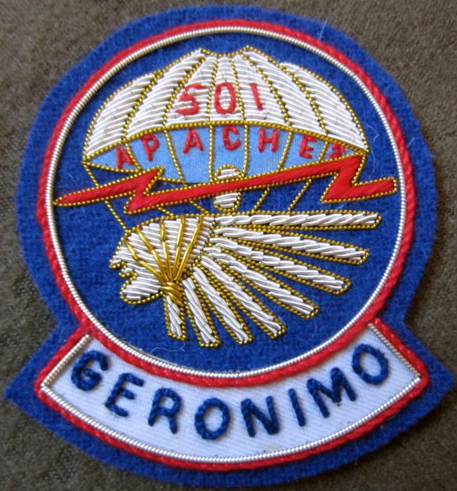 501st pir theatre made patch bullion man the line