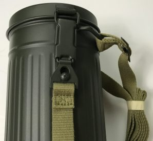 M38 GAS MASK CANISTER W/STRAP