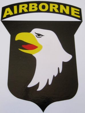 101ST HELMET DECAL