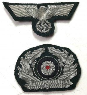 CRUSHER OFFICER CAP EAGLE & COCKADE-BULLION