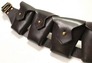 P1903 5 POCKET LEATHER AMMO BANDOLEER