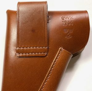 MAUSER PISTOL HOLSTER-BROWN LEATHER