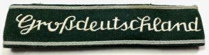 Großdeutschland CUFF TITLE-EMBROIDERED, V.1- GREEN