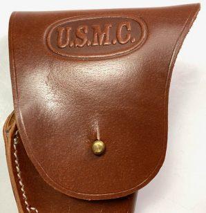 M1924 .45 LEATHER PISTOL HOLSTER-USMC