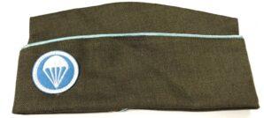 PARATROOPER OVERSEAS PX GARRISON HAT CAP W/BADGE- EARLY WAR