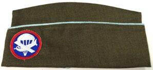 PARATROOPER OVERSEAS PX GARRISON HAT CAP W/BADGE-MID WAR