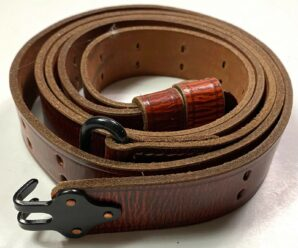 M1907 LEATHER RIFLE SLING-TOP DOWN LEATHER